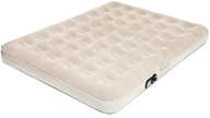 Image of Pure Comfort - Queen Low Profile Suede Top Air Bed with Built In Pump 6003QLB Tan