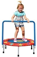 Pure Fun Trampolines - Kids Mini Trampoline with Handrail 9006KM - 36 in. by Pure Fun Trampolines
