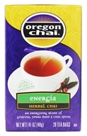 Oregon Chai - Energia Herbal Chai Tea - 20 Tea Bags by Oregon Chai