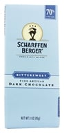 Scharffen Berger - Dark Chocolate Bar 70% Cacao Bittersweet - 3 oz. (643392500064)