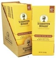 Scharffen Berger - Milk Chocolate Bar 41% Cacao Extra Rich Milk - 3 oz. (643392500279)
