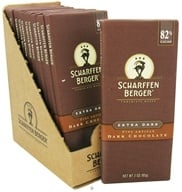 Scharffen Berger - Dark Chocolate Bar 82% Cacao Extra Dark - 3 oz. (643392500262)