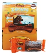 Image of Zuke's - Z-Bones Natural Edible Dental Chews Large Clean Carrot Crunch - 2.5 oz.