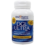 Image of Enzymatic Therapy - DGL Ultra Caramel Creme Flavored - 90 Chewable Tablets