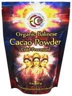 Earth Circle Organics - 100% Raw Balinese Cacao Powder - 8 oz.