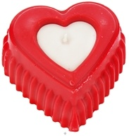Image of Aroma Naturals - My Heart For You Collection P.S. I Love You Soy Heart Eco-Candle Red & White - CLEARANCE PRICED
