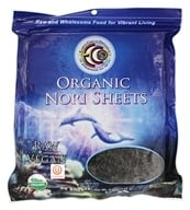 Earth Circle Organics - Raw Certified Organic Sushi Nori Sheets - 50 Sheet(s) (894932002177)