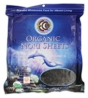 Earth Circle Organics - Raw Certified Organic Sushi Nori Sheets - 50 Sheet(s) by Earth Circle Organics