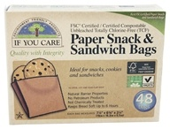 If You Care - Paper Snack & Sandwich Bags 100% Unbleached - 48 Bags (770009250262)