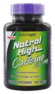 Natrol - Natrol High Caffeine 200 mg. - 100 Tablets - $6.29
