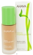 AHAVA - Mineral Makeup Care DeadSea Algae Rich Foundation Fragrance-Free Dark Terra - 1 oz. CLEARANCE PRICED