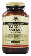 Solgar - Triple Strength Omega 3 EPA & DHA 950 mg. - 100 Softgels (033984020580)