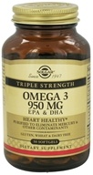 Solgar - Triple Strength Omega 3 EPA & DHA 950 mg. - 50 Softgels (033984020573)