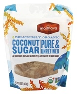 Image of Madhava Natural Sweeteners - Organic Coconut Sugar Blonde Granulated Coconut Nectar - 16 oz.