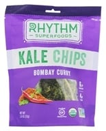 Rhythm Superfoods - Organic Kale Chips Raw Bombay Curry - 2 oz. by Rhythm Superfoods