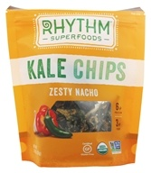 Rhythm Superfoods - Organic Kale Chips Raw Zesty Nacho - 2 oz., from category: Health Foods