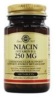 Solgar - Niacin (Vitamin B3) 250 mg. - 100 Tablets (033984018488)