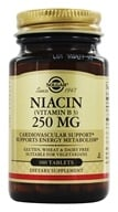 Solgar - Niacin (Vitamin B3) 250 mg. - 100 Tablets - $6.52