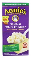 Image of Annie's Homegrown - Macaroni & Cheese Shells & White Cheddar - 6 oz.