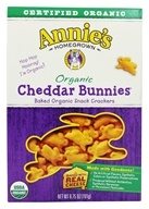 Annie's Homegrown - Organic Bunnies Baked Snack Crackers Cheddar - 6.75 oz. (013562302321)