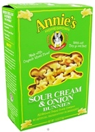 Image of Annie's Homegrown - Organic Bunnies All-Natural Baked Snack Crackers Sour Cream & Onion - 7.5 oz.