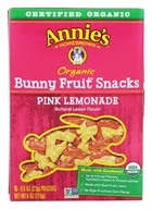 Image of Annie's Homegrown - Organic Bunny Fruit Snacks Pink Lemonade - 5 Packet(s)