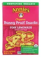Annie's Homegrown - Organic Bunny Fruit Snacks Pink Lemonade - 5 Packet(s) - $4.79