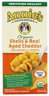 Annie's Homegrown - Organic Macaroni & Cheese Shells & Real Aged Cheddar - 6 oz. (013562300983)