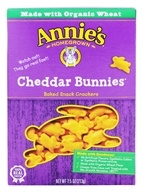 Image of Annie's Homegrown - Bunnies All-Natural Baked Snack Crackers Cheddar - 7.5 oz.