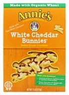 Annie's Homegrown - Bunnies All-Natural Baked Snack Crackers White Cheddar - 7.5 oz., from category: Health Foods