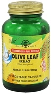 Image of Solgar - Olive Leaf Exract Standardized - 60 Vegetarian Capsules