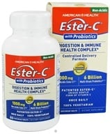 American Health - Ester-C with Probiotics 1000 mg. - 60 Vegetarian Tablets CLEARANCE PRICED