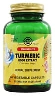 Image of Solgar - Turmeric Root Extract Standardized - 60 Vegetarian Capsules