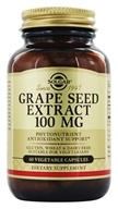 Image of Solgar - Grape Seed Extract 100 mg. - 60 Vegetarian Capsules