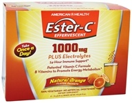 Image of American Health - Ester-C Effervescent Natural Orange 1000 mg. - 21 Packet(s)