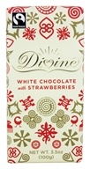 Divine - White Chocolate Bar with Strawberries - 3.5 oz. (898596001170)