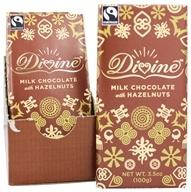 Divine - Milk Chocolate Bar Hazelnut - 3.5 oz., from category: Health Foods