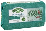 Nature's Gate - Cleansing Bar Soap Moisturizing Tea Tree - 5 oz. (078347752388)