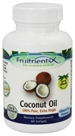 FruitrientsX - Coconut Oil 100% Pure Extra Virgin - 60 Softgels by FruitrientsX