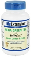 Life Extension - Mega Green Tea With Coffee Genic Green Coffee Extract - 120 Vegetarian Capsules