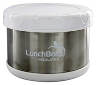 "LunchBots - Insulated Thermal 3.5"" High x 4.5"" Wide White - 16 oz."