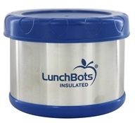 "Image of LunchBots - Insulated Thermal 3.5"" High x 4.5"" Wide Dark Blue - 16 oz."