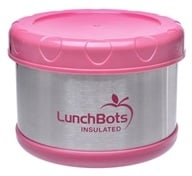 "Image of LunchBots - Insulated Thermal 3.5"" High x 4.5"" Wide Pink - 16 oz."