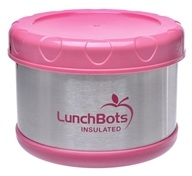 "LunchBots - Insulated Thermal 3.5"" High x 4.5"" Wide Pink - 16 oz."