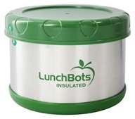 "LunchBots - Insulated Thermal 3.5"" High x 4.5"" Wide Green - 16 oz."