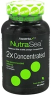 Image of Ascenta Health - NutraSea 2x Concntrated Balanced EPA & DHA omega-3 supplement Fresh Mint Flavor - 60 Softgels