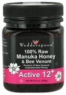 Image of Wedderspoon Organic - 100% Raw Organic Manuka Honey & Bee Venom Active 12+ - 8.8 oz.