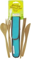 Image of To-Go Ware - RePEaT Bamboo Reusable Utensil Set Agave Blue
