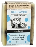 Biggs & Featherbelle - Bar-Lamint Handmade Natural Soap Lavender, Rosemary & Peppermint Essential Oils - 3.5 oz.