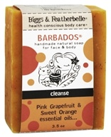 Biggs & Featherbelle - Barbados Handmade Natural Soap Pink Grapefruit & Sweet Orange Essential Oils - 3.5 oz.